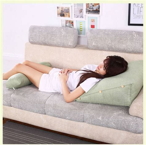 neck support pillow for bed adjustable sofa bed chair rest neck support back wedge