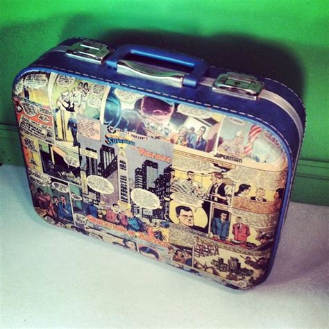 How To Decoupage A Suitcase - vintage decoupaged comic book suitcase rad repurposing