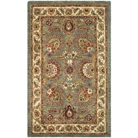 Safavieh Classic Celadon Ivory 2 Ft 3 In X 4 Ft Area 4 Foot Area Rugs