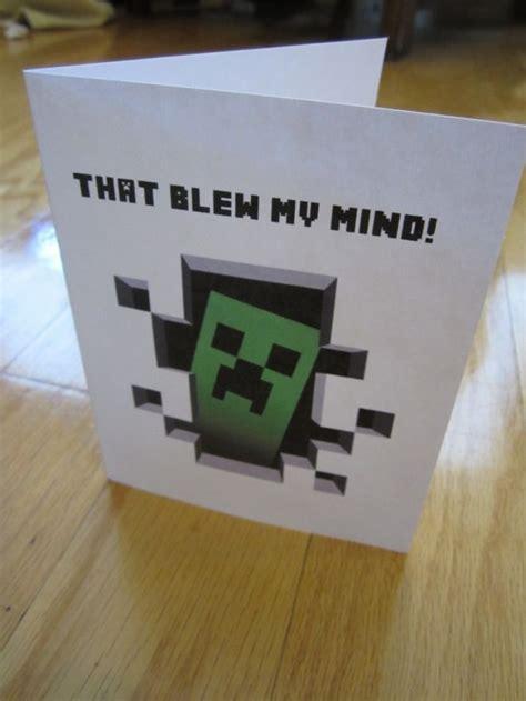 minecraft thank you card template minecraft birthday bash sunday school minecraft and kid