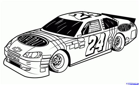 Nascar Coloring Page Drag Race Car Coloring Pages