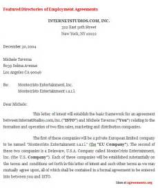 Agreement Letter Of Intent Exle Of Letter Of Intent For Loan Application Sle Loan Application Lettersle Student