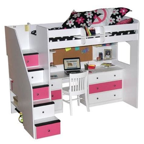 twin loft bed with desk and storage pinterest the world s catalog of ideas
