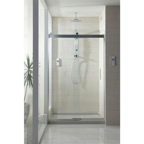 kohler levity sliding shower door kohler levity 47 5 8 in x 74 in semi frameless sliding
