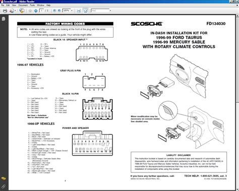 2003 ford taurus stereo wiring diagram 1999 dodge ram 1500