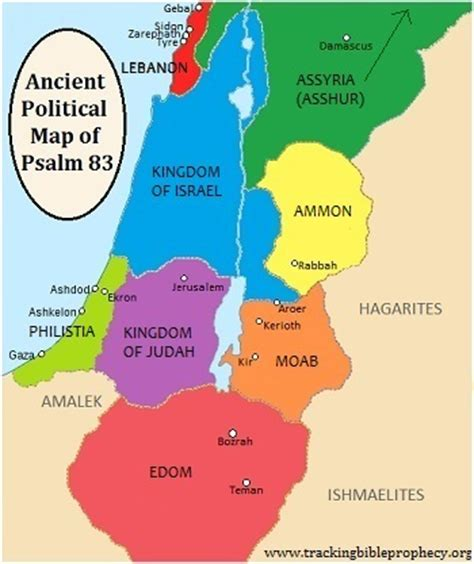 ancient middle east map judah syria and psalm 83 enews for april 02 2013