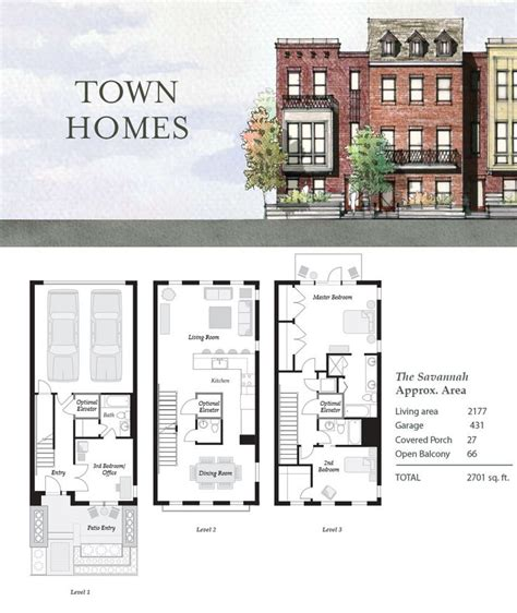 2 Story Townhouse Floor Plans 67 best townhouse duplex plans images on pinterest