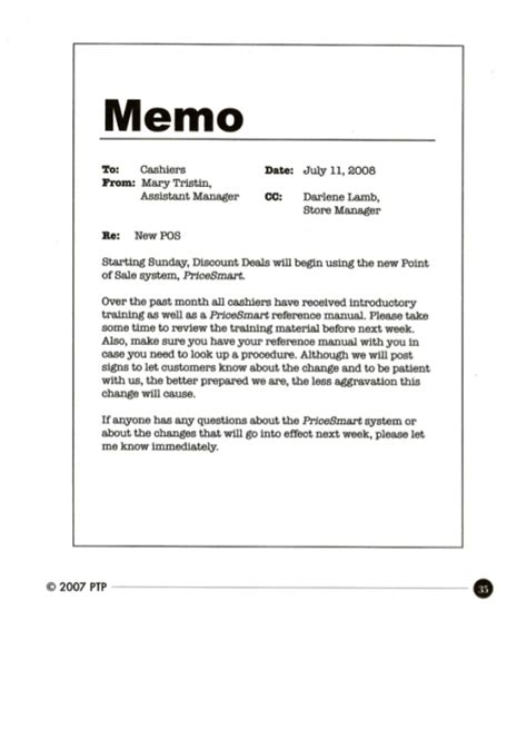 work memo template workplace documents document