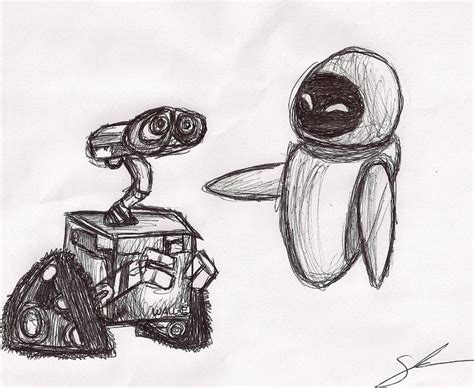 Wall E Sketches by Wall E And By Sheathedestroyer On Deviantart