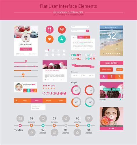 Design Ui Elements | dribbble ui flat design elements rp jpg by marie dehayes