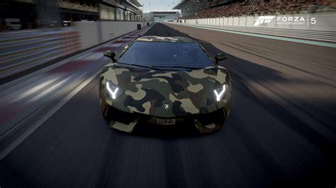 Camo Lamborghini Forza 5 Lamborghini Aventador Camouflage