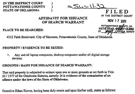 Oklahoma County Warrant Search Guilty Crain Mccloud Oklahoma Arrested Dec 2011 Child