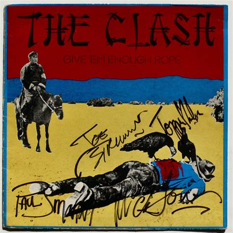 Clash Give Em Enough Rope Cd the clash signed give em enough rope uk lp