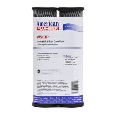 Plumbing Filters by W5cip American Plumber Undersink Filter Replacement Cartridge 2 Pack