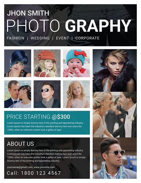 Modern Photography Flyer Design Template In Word Psd Publisher Photography Flyer Template Word