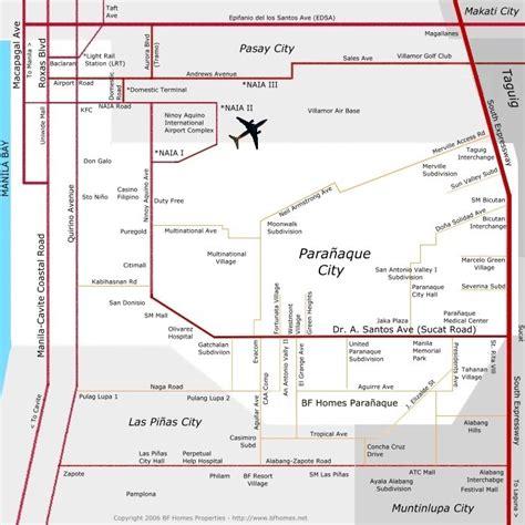 homes map paranaque map bf homes paranaque map
