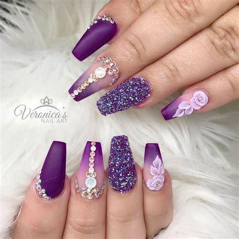 Lila Nägel by Best 25 Purple Nail Designs Ideas On Purple