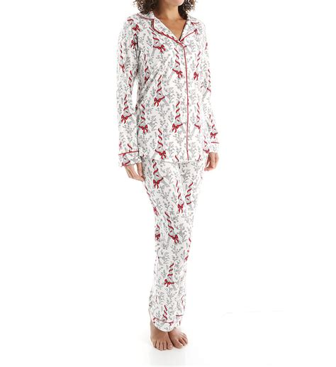 bed head pajamas bedhead pajamas bow eiffel tower long sleeve classic pj