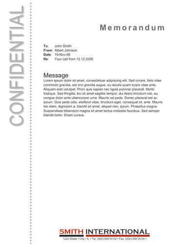confidential memo template memo format bonus 48 memo templates