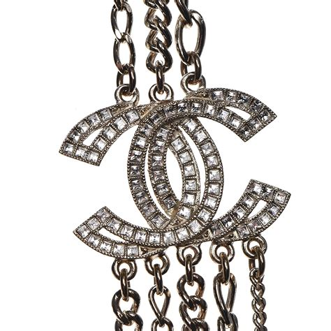 Chanel Chain Baguette by Chanel Multi Strand Chain Baguette Cc Necklace