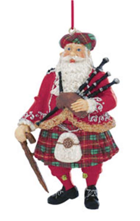 scottish piper christmas decoration scottish santa ornament scottish ornaments store name