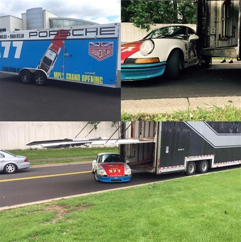 magnus walker crash magnus walker crashes vintage porsche 911 into truck with