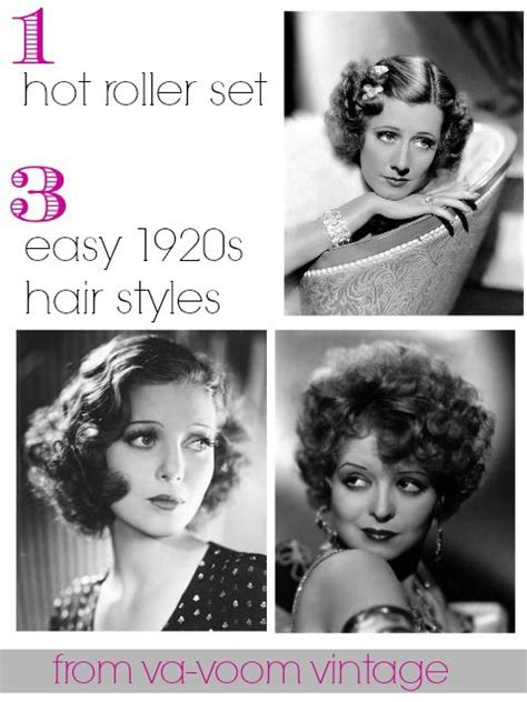 easy crimp 1920s hairstyles 1 hot roller set 3 easy 1920s hair styles from va voom