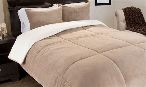 fleece down comforter lavish home fleece comforter set 2 or 3 piece
