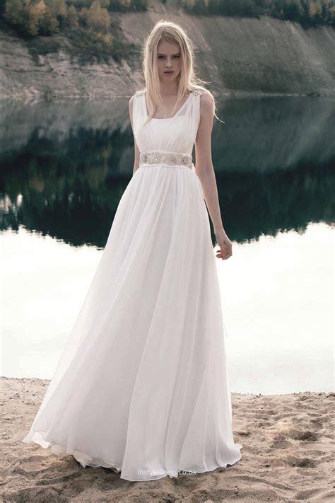informal a line sleeveless floor length chiffon lace