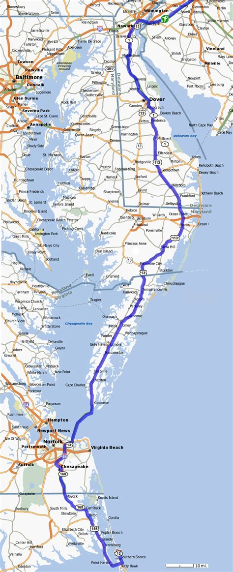 map of outer banks nc directions to outer banks