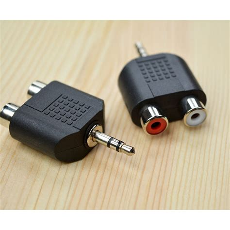 Rca To Aux 3 5mm rca to aux adapter 3 5mm 062 black