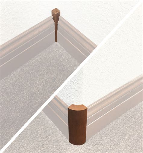 chair rail corner pieces wood mouldings manufactured by sun mountain