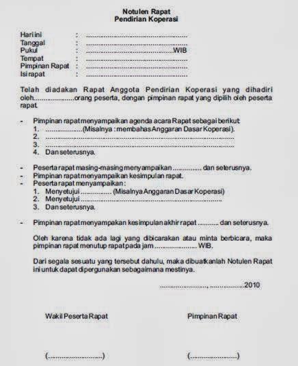 Format Notulen Rapat Dinas by Penjelasan Dan Contoh Notulen Rapat Terlengkap Bahasa