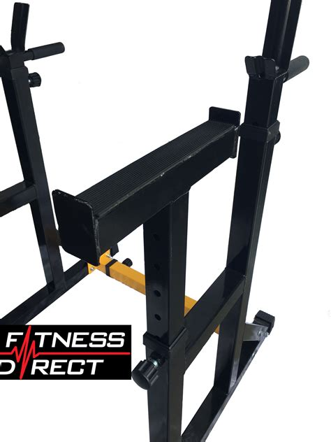 Dip Squat Rack by Fitness Direct Adjustable Squat Rack Barbell Stand Dip Weight Lifting Ebay