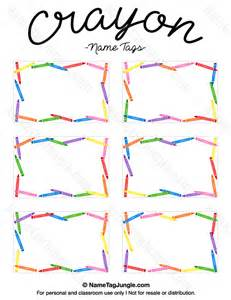 name templates printable crayon name tags