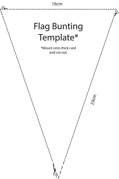 printable bunting template decodolly october 2012
