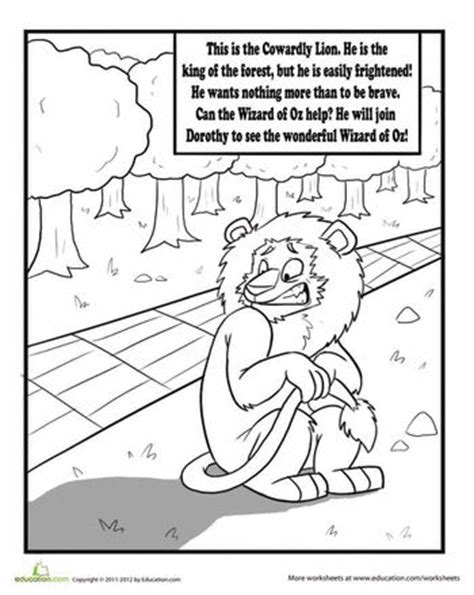 cowardly lion coloring pages 25 best ideas about wizard of oz lion on pinterest
