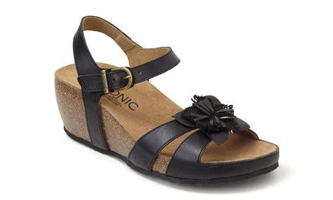 vionic gibraltar s cork wedge sandal w orthaheel