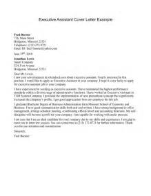 How To Write An Executive Cover Letter by Executive Assistant Cover Letter Sle Writing Resume