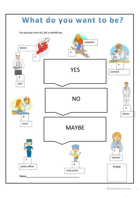 what do you want to be worksheet free esl printable worksheets made by teachers