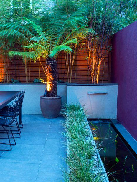 beautiful Small Outdoor Water Features #3: modern-town-garden-waterfall.jpg