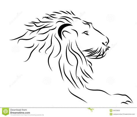 imagenes leones blanco y negro un logotipo de la cabeza del le 243 n en blanco y negro foto