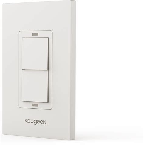 wifi enabled light switch two wi fi enabled smart light switch koogeek com