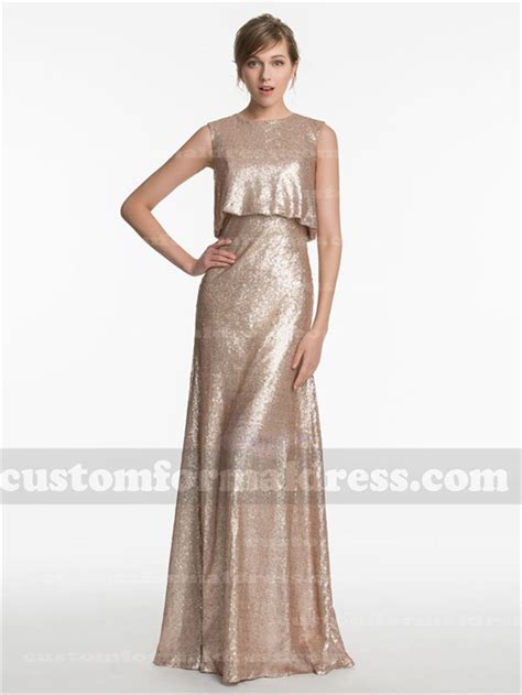 draped evening gowns long gold sequined bridesmaid dresses evening gowns with