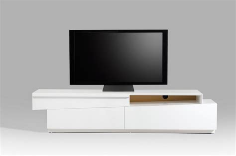 modern white contemporary slanted white high gloss tv stand with