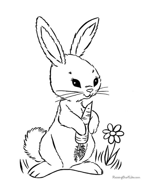 Bunny Coloring Pages Coloring Pages To Print Rabbit Color Pages