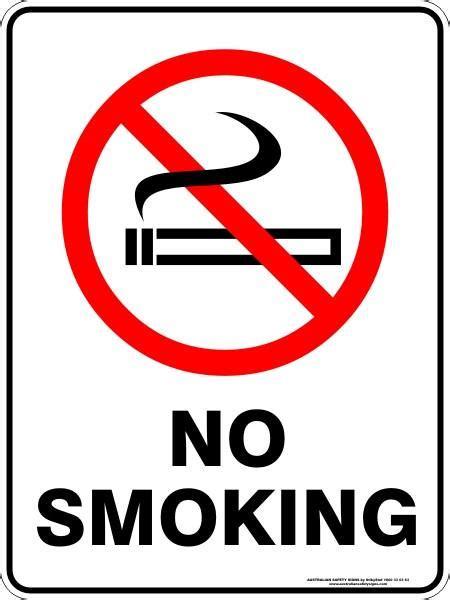 no smoking sign australia no smoking australian safety signs