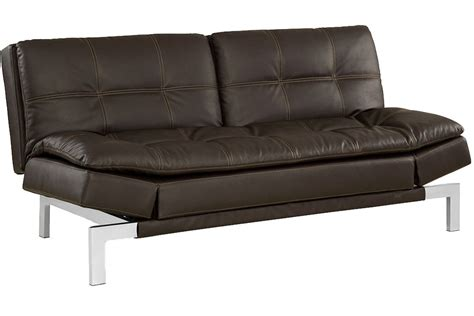 european futon brown leather sofa bed futon valencia serta euro lounger