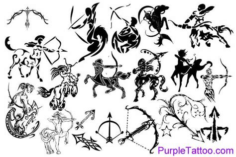 coleccion de varios tatuajes de los signos del zodiaco