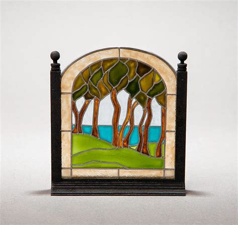 Good Sam Showcase Of Miniatures Dealer Barbara Sabia Stained Glass Fireplace Doors